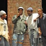 (l-r) Kenn Michael, Julian Vance, Baron Vaugh, and Kevin Avery between takes.