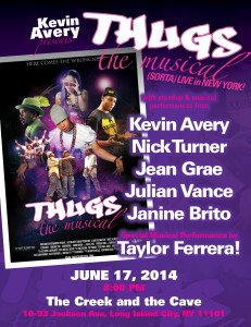 Thugs The Musical LIVE Flyer NEW YORK 2